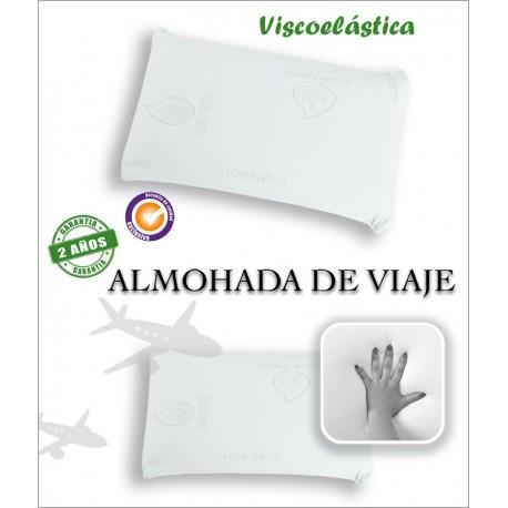 ALMOHADA DE VIAJE VISCOELASTICA ALOE VERA