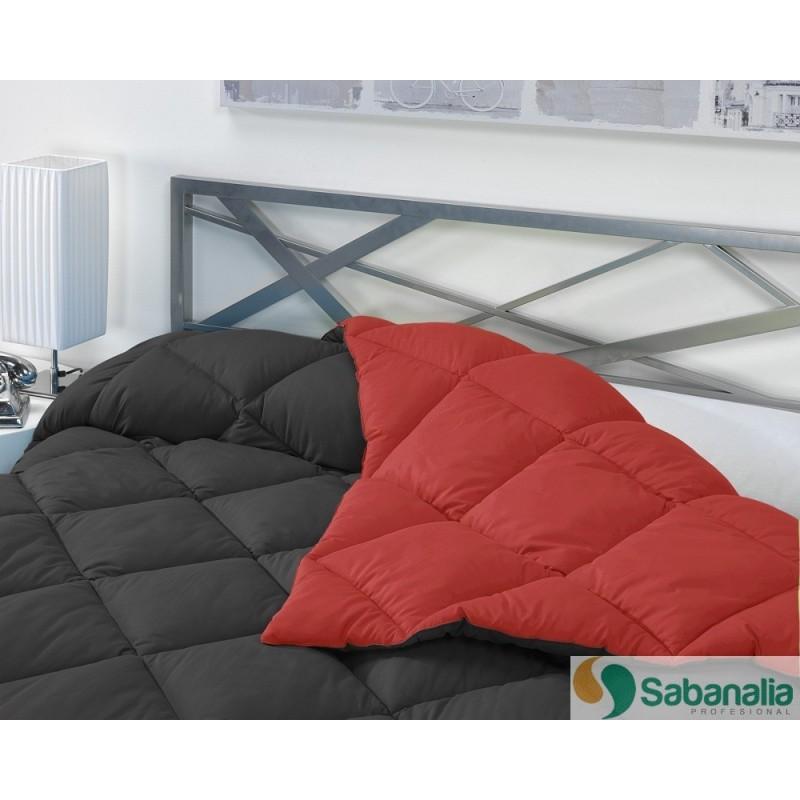 Edredon Nordico Rojo.Edredon Nordico De 400 G Reversible Bicolor Sabanalia