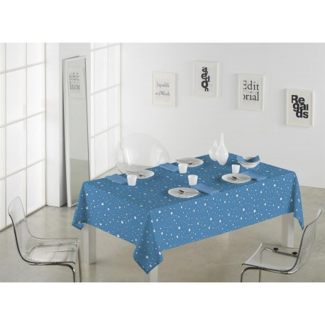 Mantel antimanchas RAIN Azul