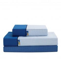 Juego de sábanas estampadas MOTA Azul