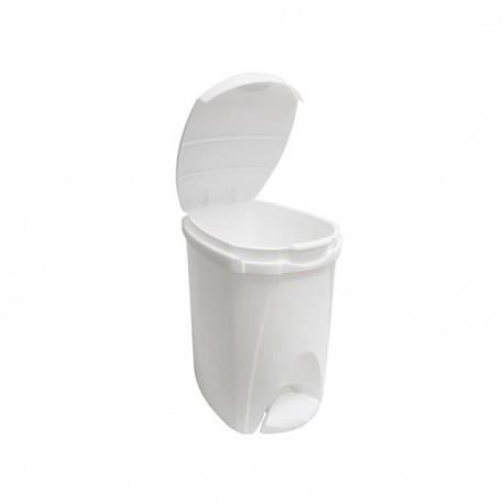 Cubo Papelera de Baño 8 Litros con Tapa y Pedal - Unidad.